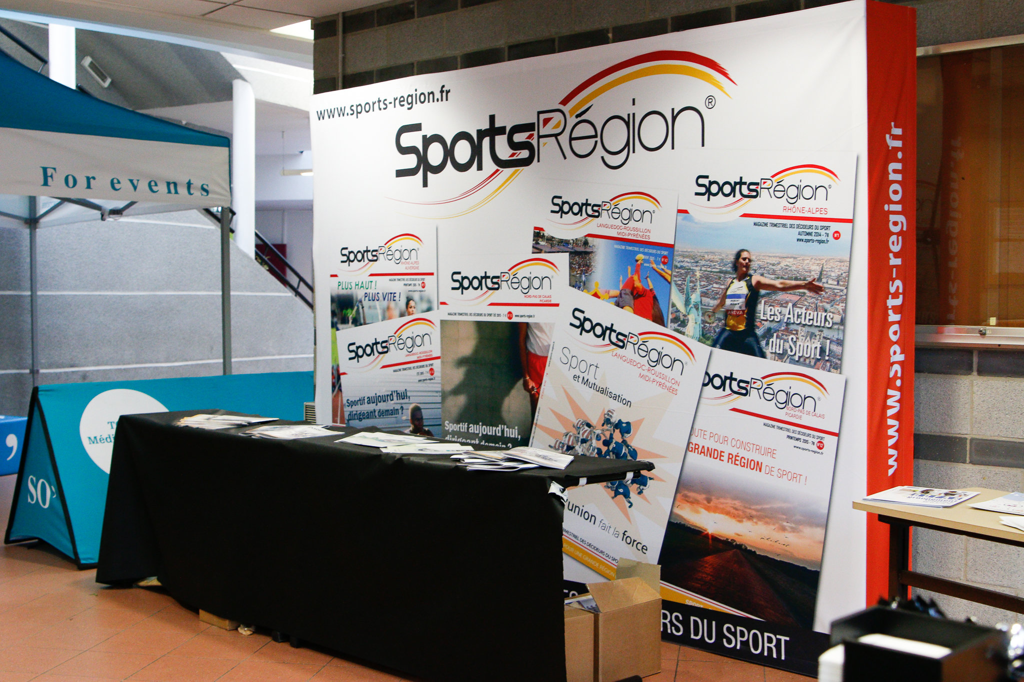 Les Magazines Sports Région lors des XVième Rencontres Nationales du Sport et des Collectivités
