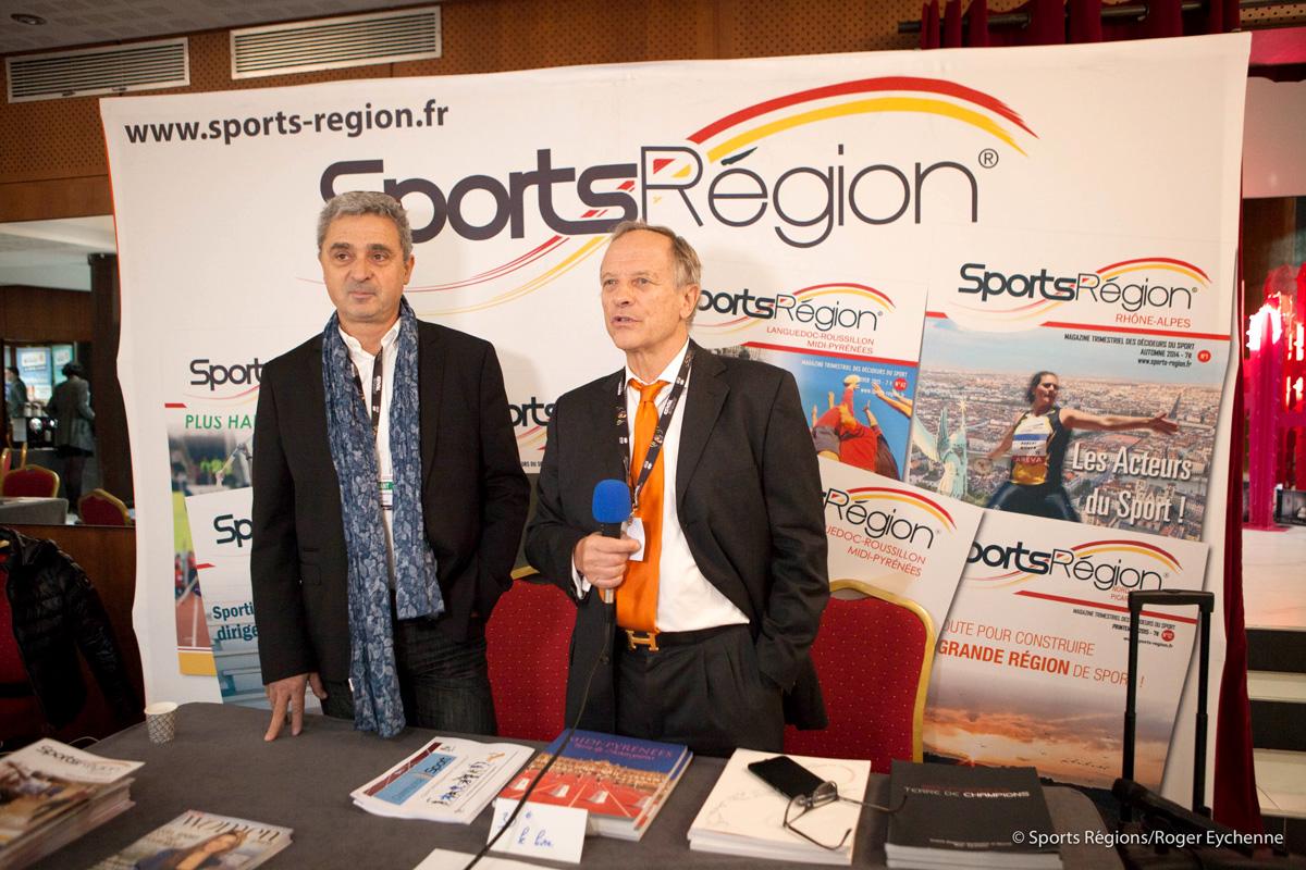 Stand Sports Région, M. Maggiorani et Claude Baigts