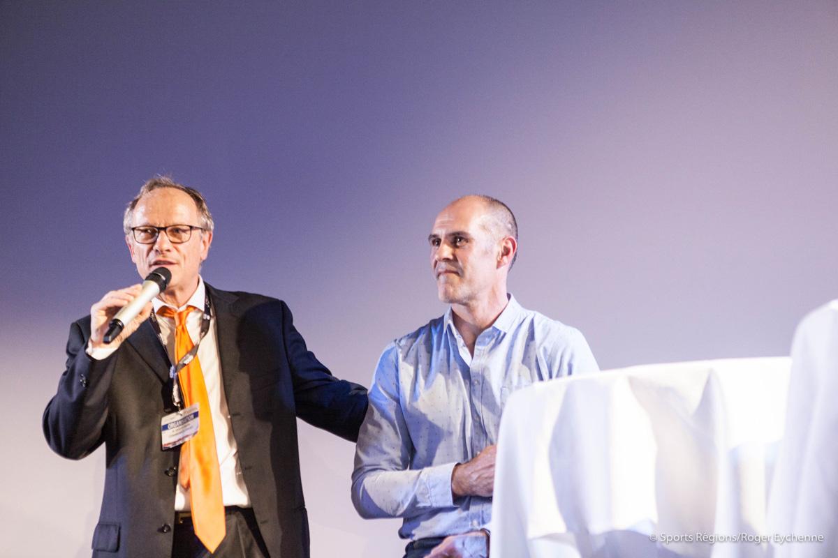 David Berty et Claude Baigts au dîner-débat