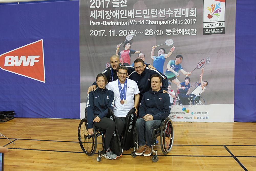 Des médailles en argent et en  bronze aux championnats du Monde Parabadminton pour l'Occitanie.